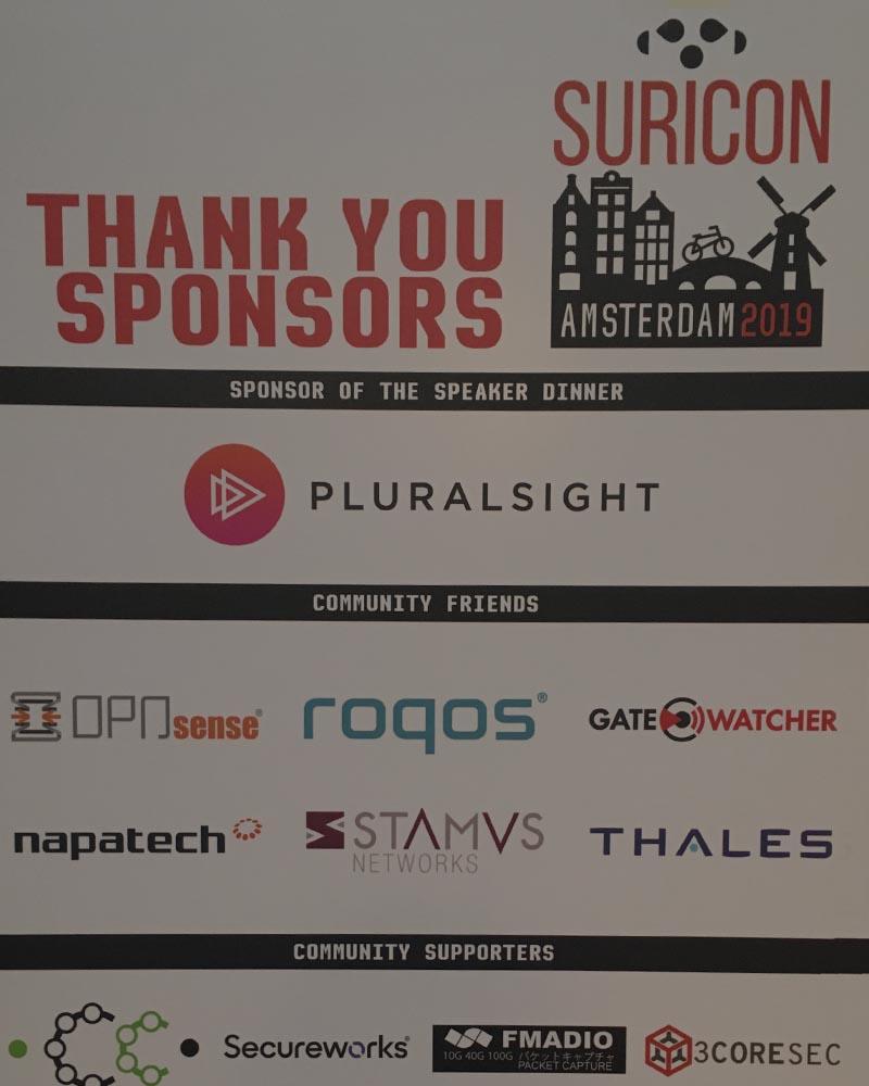 Suricon Sponsors